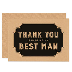 Retro Thank You For Being My Best Man - Project Pretty  - 1