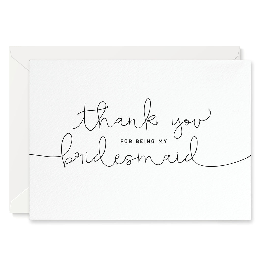 'Thank You For Being My Bridesmaid' Card - Project Pretty
