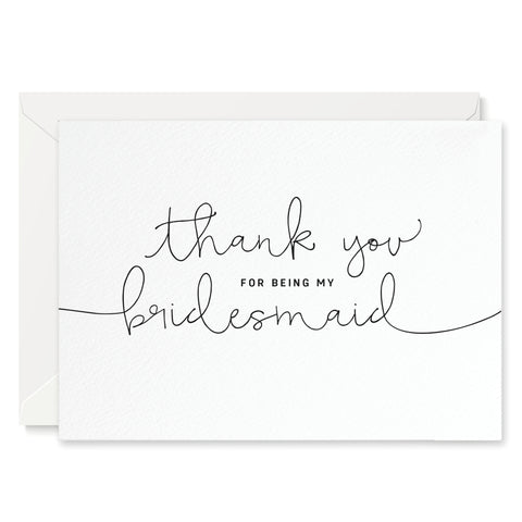 'Thank You For Being My Bridesmaid' Card
