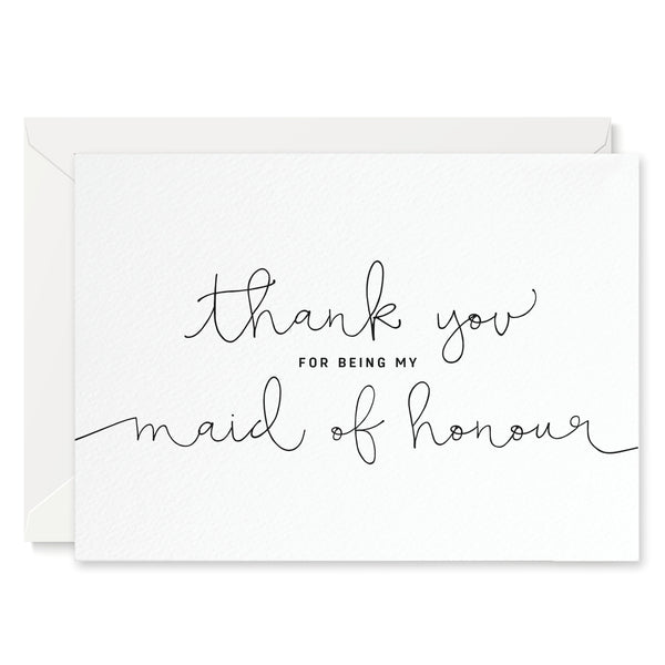 'Thank You For Being My Maid of Honour' Card - Project Pretty