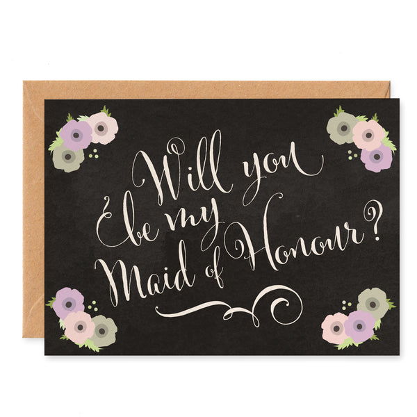 Will You Be My Maid of Honour? Card - Project Pretty