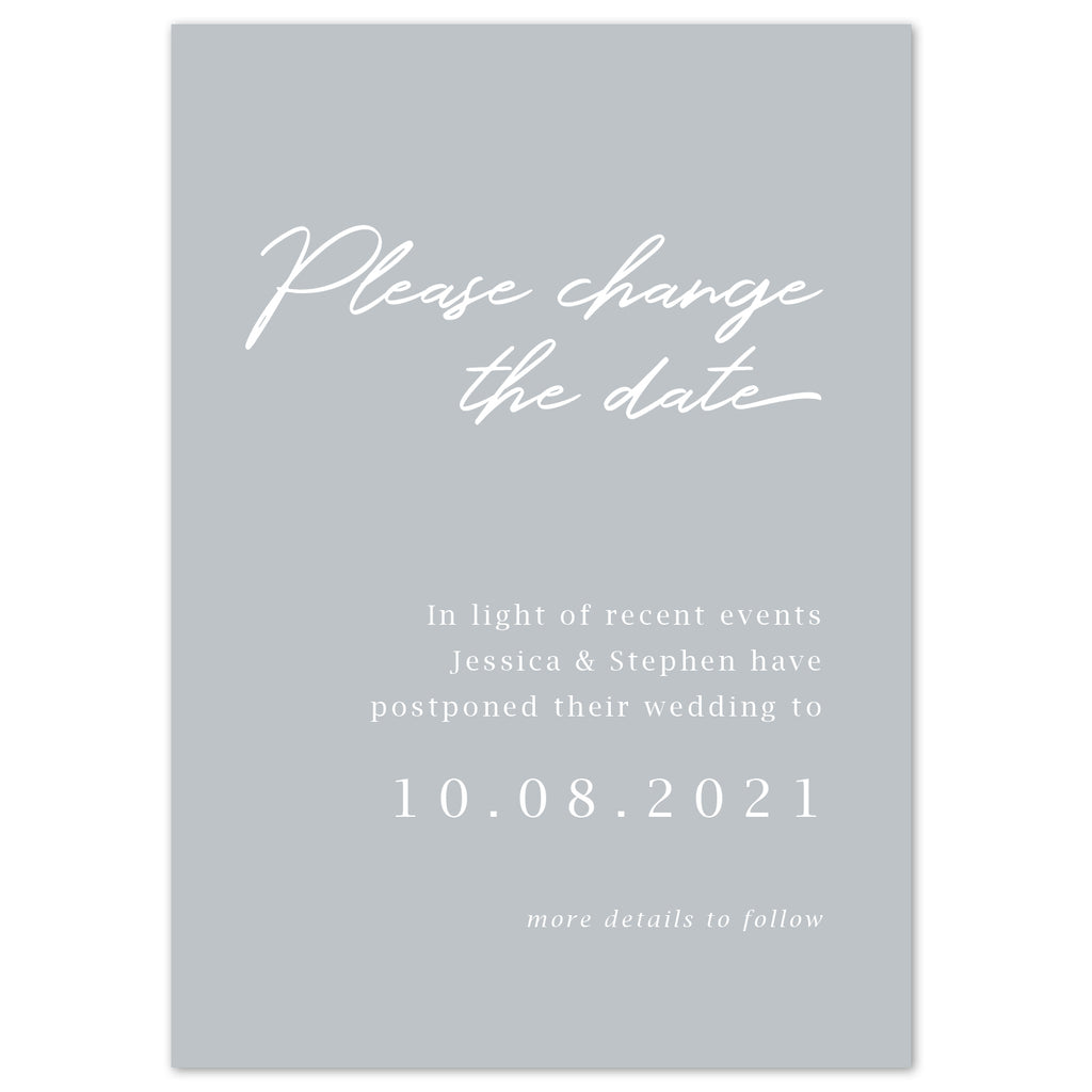 Minimal wedding Change The Date