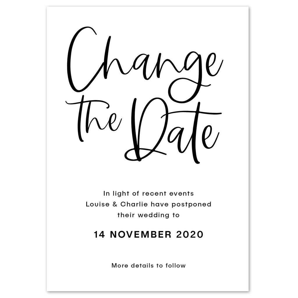 Modern script Change The Date