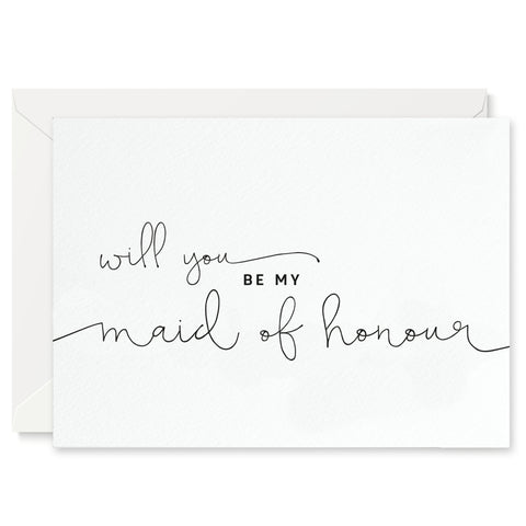 Kate 'Will You Be My Maid of Honour?' Card - Project Pretty