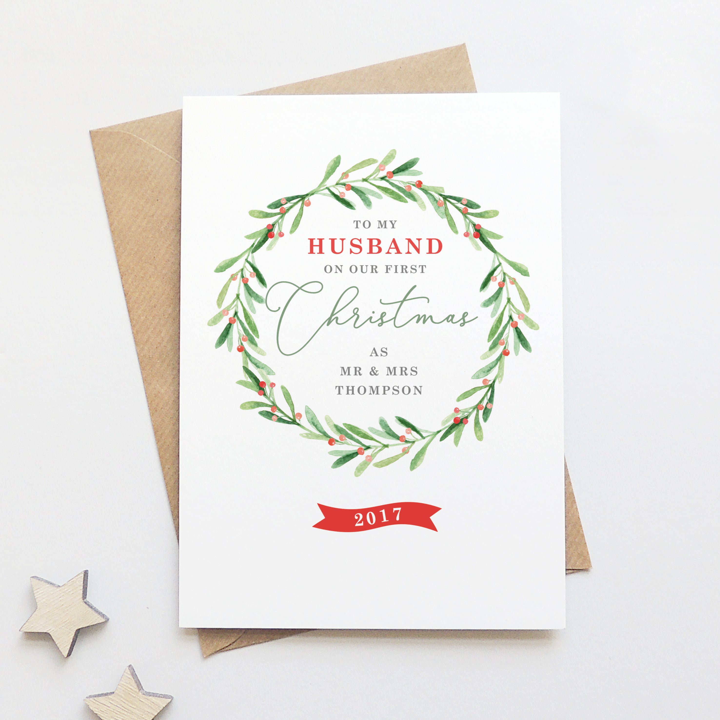 Personalised \'To My Husband On Our First Christmas\' Card – Project ...