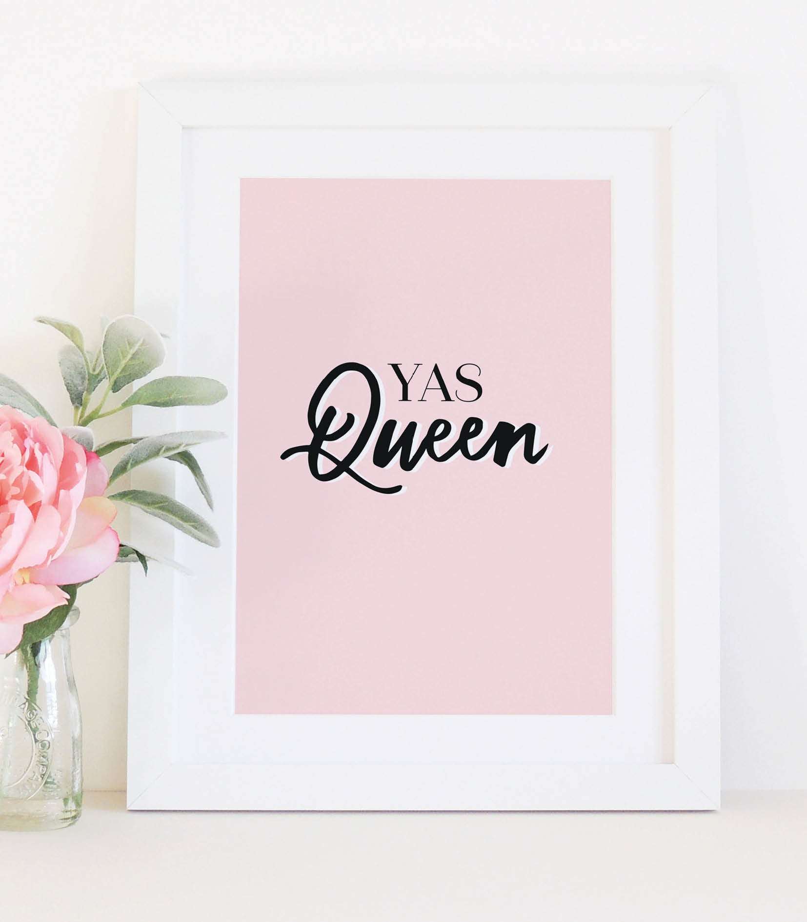 'Yas Queen'  typographical print - Project Pretty  - 2