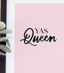 'Yas Queen'  typographical print - Project Pretty  - 3