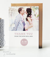 Zara Wedding Photo Thank You Cards - Project Pretty  - 1