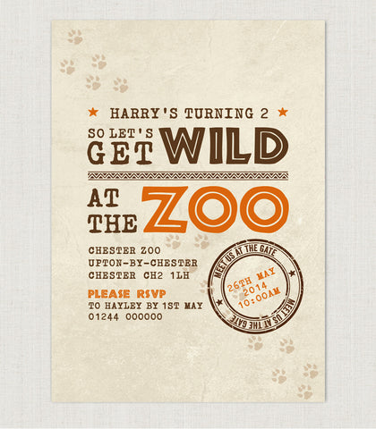 Zoo Party Birthday invitation - Project Pretty
