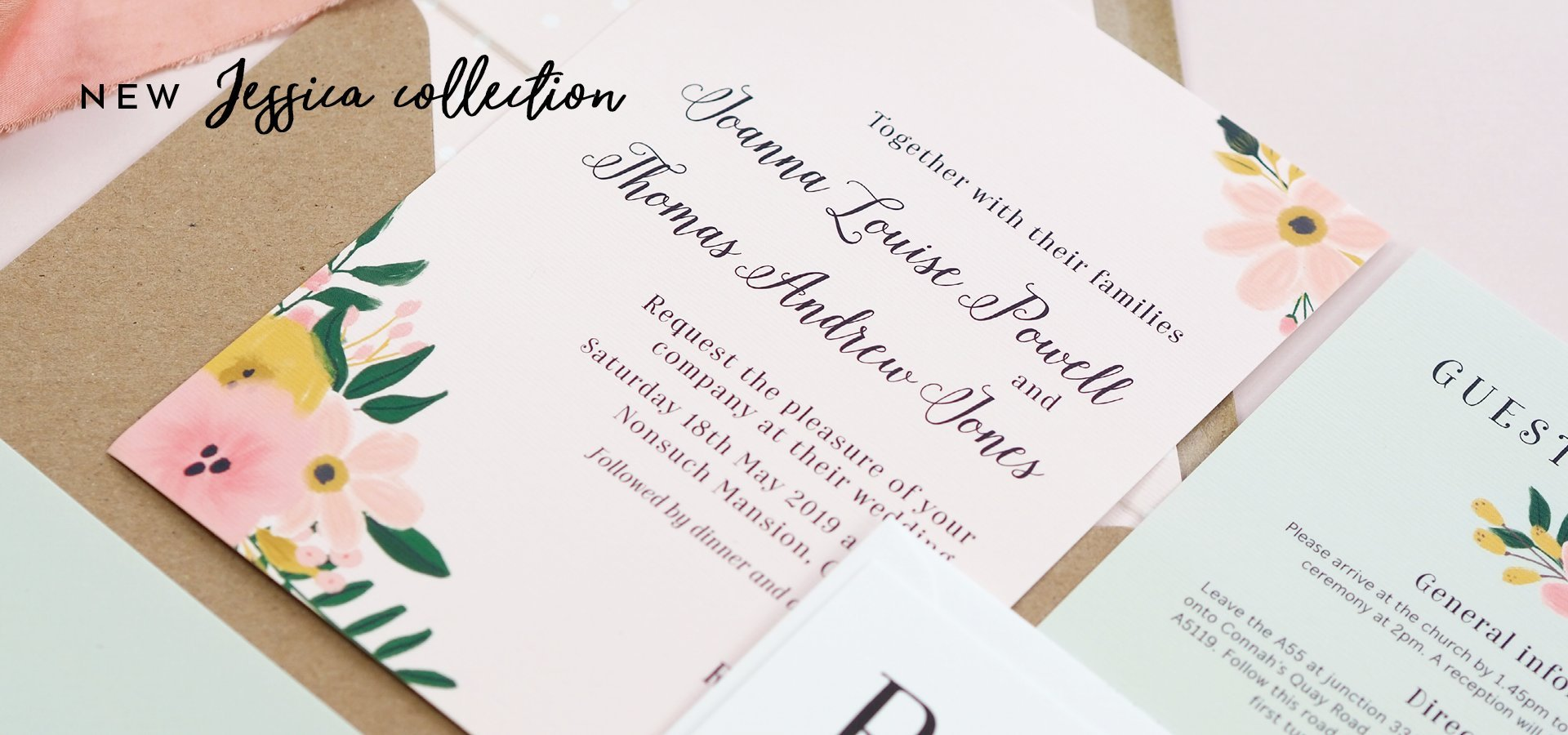 New Jessica wedding stationery collection
