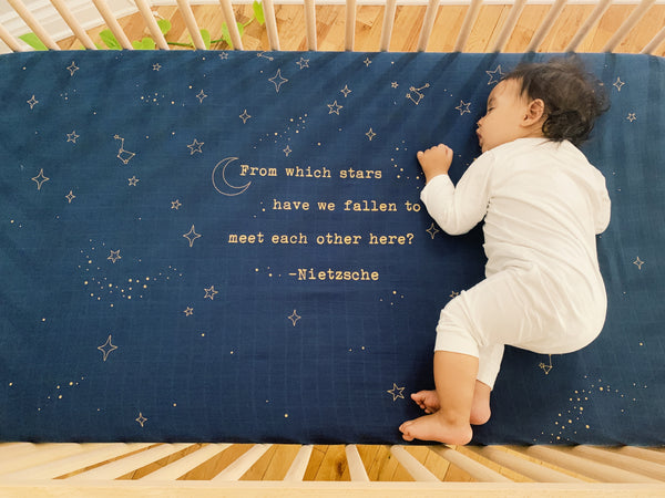 Golden Star Crib Sheet - CovetedThings