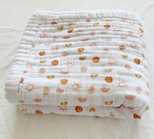 Load image into Gallery viewer, Hello Sunshine 4-Layer Organic Cotton Happy Cloud Luxury Blanket - CovetedThings