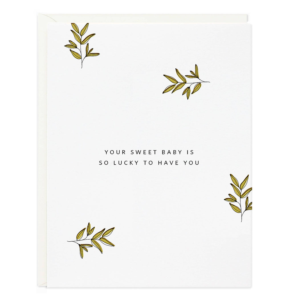 Sweet Lucky Baby Card - CovetedThings