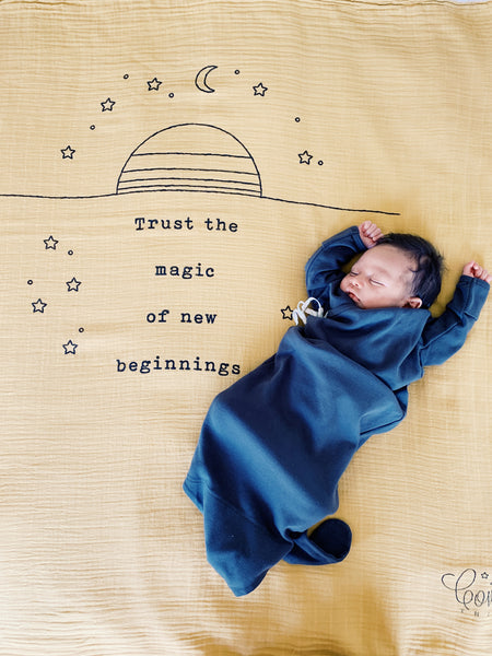 Trust the magic of new beginnings Organic Swaddle Scarf™ - CovetedThings