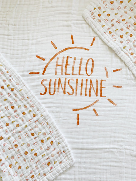 Hello Sunshine 4-Layer Organic Cotton Happy Cloud Luxury Blanket - CovetedThings