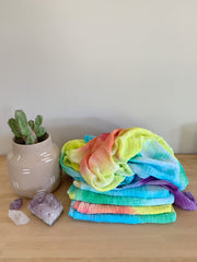 Tie Dyed Organic Swaddle Scarves™ in Roy G. Biv - CovetedThings