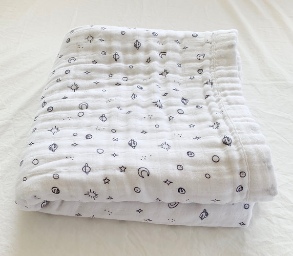 Rumi Planet 4-Layer Organic Cotton Happy Cloud Luxury Blanket - CovetedThings
