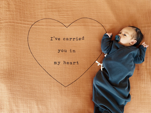 In my heart Organic Swaddle Scarf™ - CovetedThings