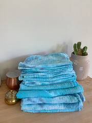 Tie Dyed Organic Swaddle Scarves™ in Cotton Candy