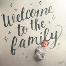 Load image into Gallery viewer, Welcome to the Family Organic Swaddle Scarf™ - CovetedThings