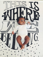 Load image into Gallery viewer, Where We Belong Organic Swaddle Scarf™ - CovetedThings
