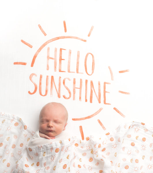 All Over Sun Print Organic Swaddle Scarf™ - CovetedThings