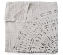 Load image into Gallery viewer, Faded Arrows 4-Layer Organic Cotton Happy Cloud Luxury Blanket - CovetedThings
