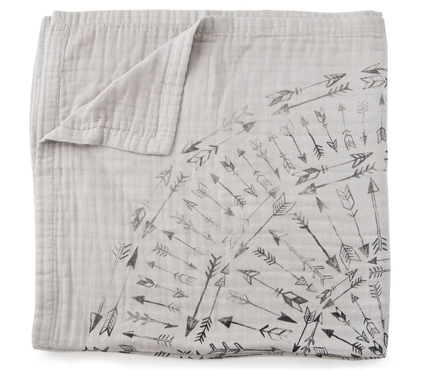 'Faded Arrows' 4-Layer Organic Cotton Happy Cloud Luxury Blanket