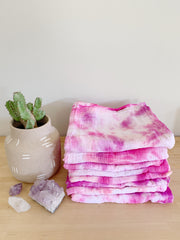 Tie Dyed Organic Swaddle Scarves™ in Desert Sunset