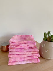 Tie Dyed Organic Swaddle Scarves™ in Summer Sherbet