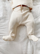 Load image into Gallery viewer, Organic Cotton Footed Pants in Dove - CovetedThings