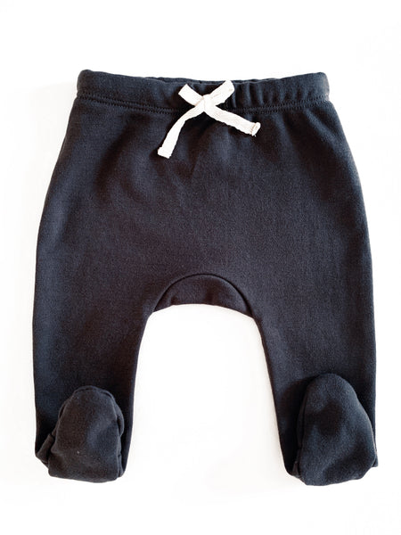 Organic Cotton Footed Pants in Charcoal - CovetedThings