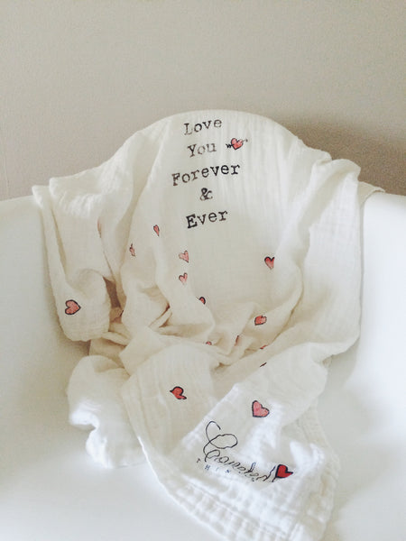 Love You Forever & Ever Organic Swaddle Scarf™