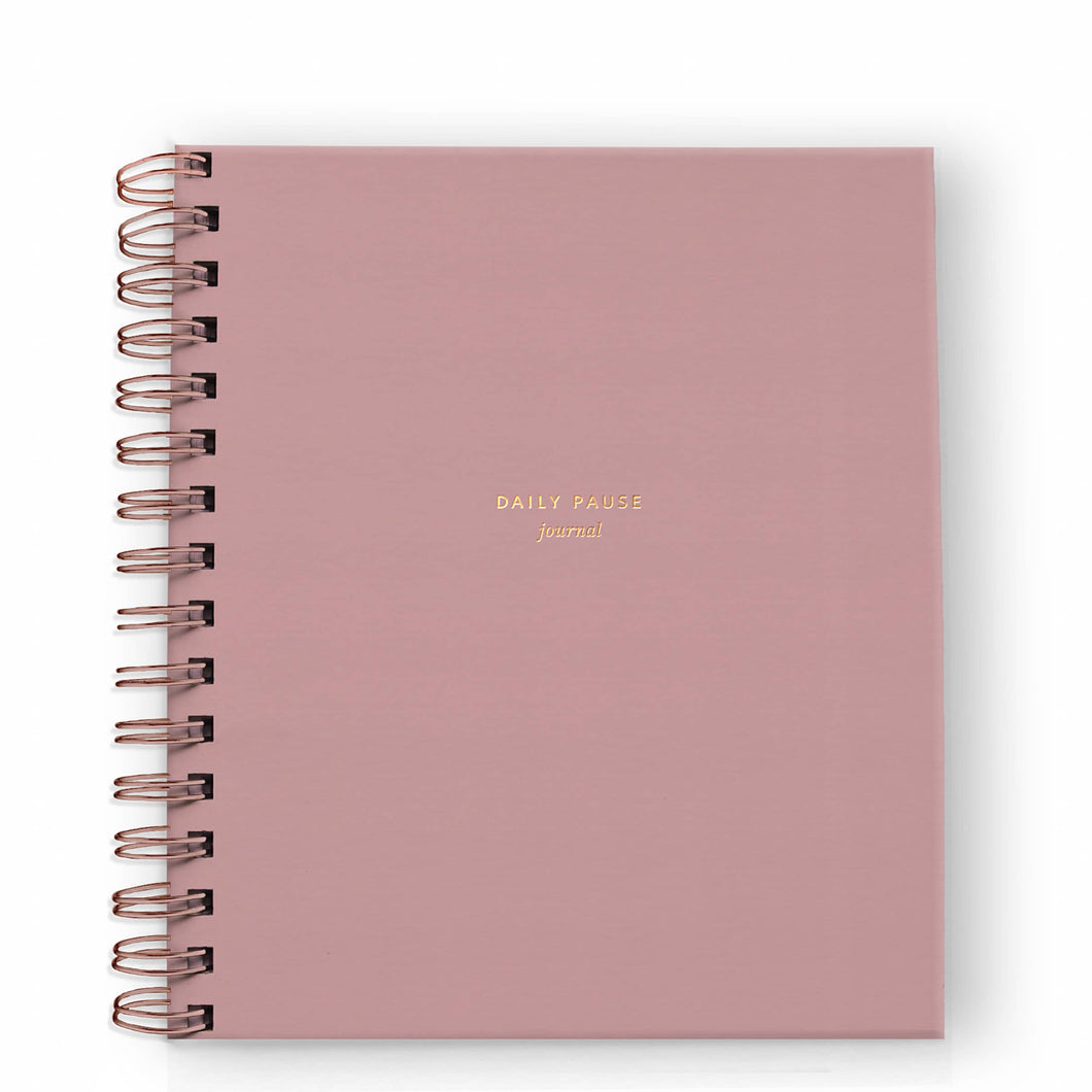 Daily Pause Journal in Dusty Rose - CovetedThings