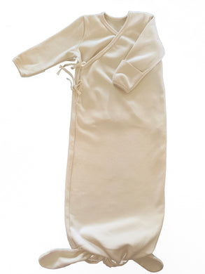 Organic Cotton Baby Gown in Dove - CovetedThings