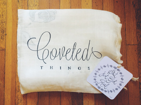 Shit Just Got Real™ Organic Swaddle Scarf™ - CovetedThings