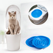 Load image into Gallery viewer, 40*40*3.5cm ABS Pet Toilet Trainer Puppy Cat Toilet Litter Trainer catsCeaningTrainingToilet Supplies with Toilet Seat Lighting