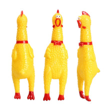 Load image into Gallery viewer, Hot Sale 16CM Yellow Rubber Screaming Chicken Pet Dog Toy Puppy Chew Squeak Venting Toys