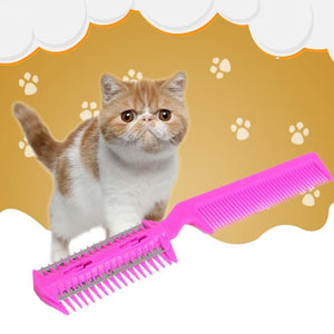 1PC Random Color Pet Hair Trimmer Comb Cutting Cut Dog Cat With 4 Blades Grooming Razor Thinning For Pet Beauty Supplies