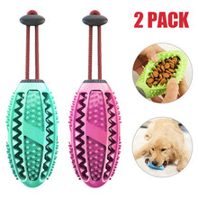 Load image into Gallery viewer, Dog Interactive Natural Rubber Ball Puppy Chew Toy Food Dispenser Ball Bite-Resistant Clean Teeth Pet Playing Balls Pet Dog Toys