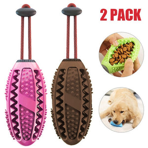 Dog Interactive Natural Rubber Ball Puppy Chew Toy Food Dispenser Ball Bite-Resistant Clean Teeth Pet Playing Balls Pet Dog Toys