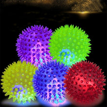 Load image into Gallery viewer, 1pc Interactive Rubber Balls Lighting Dog Toy Balls Dog Cat Pet Squeaky Toys Soft Pet Dog Chew Elastic Hedgehog Ball Puppy Toy