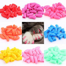 Load image into Gallery viewer, 20 Pcs Dog Cat Nail Caps Soft Silicone Anti-scratch Paw Nail Cover Puppy Claw Grooming Manicure Dog Cat Nail Grooming Supplies