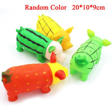 Load image into Gallery viewer, 1pc Colorful Screaming Rubber Pig Pet Teasing Squeak Squeaker Chew Toy Puppy Toy for Dogs for Large Dogs Sound Voice Dog Toys 35