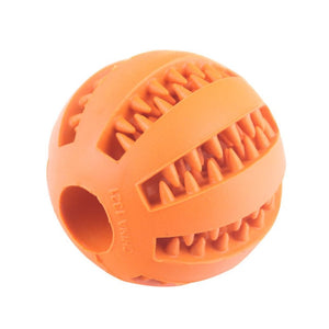 Dog Toys For Dog Toothbrush Clean Ball Food Extra-tough Rubber Interactive Ball Dog Toy For Small  Medium Dogs Products