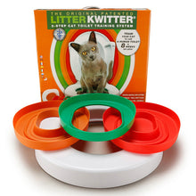 Load image into Gallery viewer, 3 Step Cat Toilet Training System Kit Colourful Plastic Training Queakly Easy to Use Human Toilet 8 weeks or less Pet Supplies