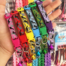 Load image into Gallery viewer, Delicate Safety Casual Nylon Dog Collar Neck Strap Fashion Adjustable Camo Bell Pet Dog Collar Hot Sale