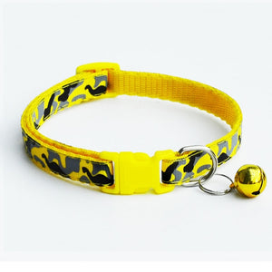 Delicate Safety Casual Nylon Dog Collar Neck Strap Fashion Adjustable Camo Bell Pet Dog Collar Hot Sale