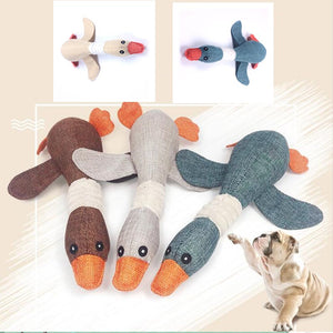 MINGFAN Lovely Cat  dog toys Cat puppy pet chew toy animals squirrel plush Cartoon bite Linen cloth Wild goose squeak toy j999