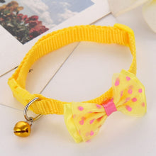 Load image into Gallery viewer, Puppy Fashion Adjustable Cute Necktie Dog Cat Pet Collar Nylon Bell Kitten Candy Color 1pc New Bow Tie Bowknot Likesome
